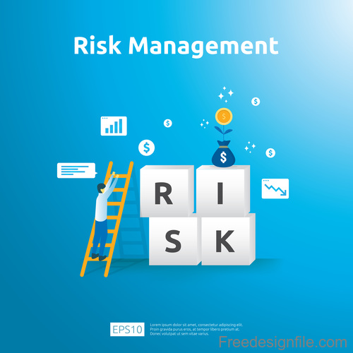 Risk management business template vector 01