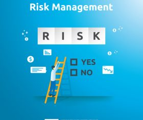 Risk management business template vector 02