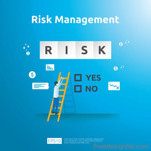Risk management business template vector 02