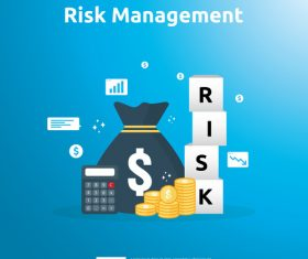 Risk management business template vector 03