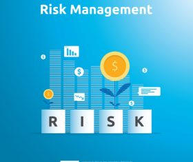Risk management business template vector 04