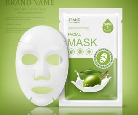 SD Facial sheet mask sachet package vector 01