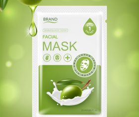 SD Facial sheet mask sachet package vector 02