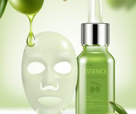 SD Green repair serum with green olive essence vector 01