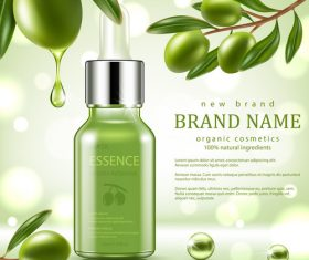 SD Green repair serum with green olive essence vector 02