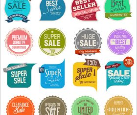 Sale badge and sticker design vector set
