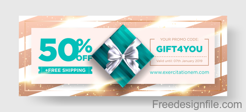 Shop discount card template vector 02