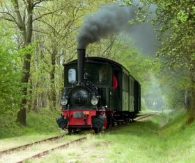 Small steam locomotive Stock Photo