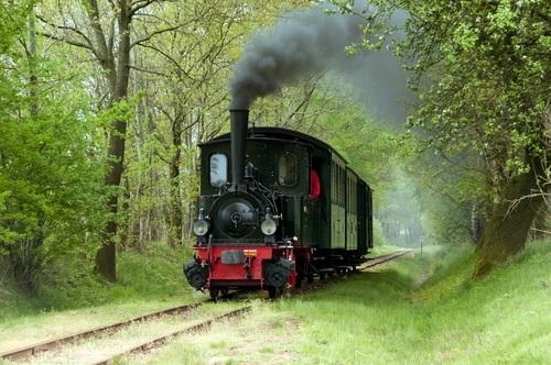 Small steam locomotive Stock Photo