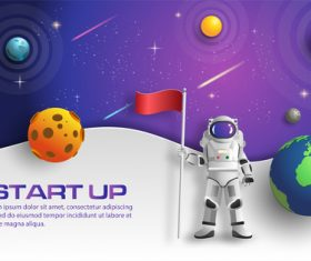 Start up business template vector design 01