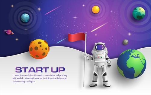 Start up business template vector design 01