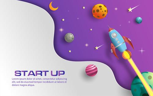 Start up business template vector design 02