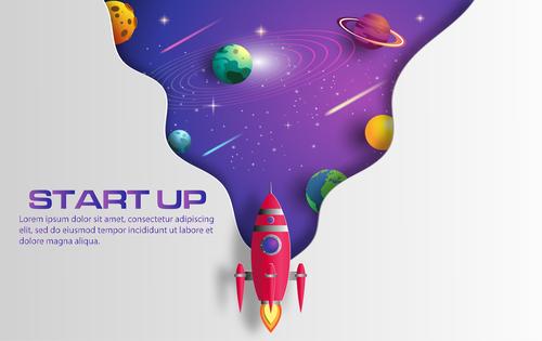 Start up business template vector design 03