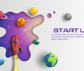Start up business template vector design 04