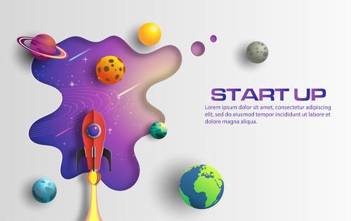 Start up business template vector design 04