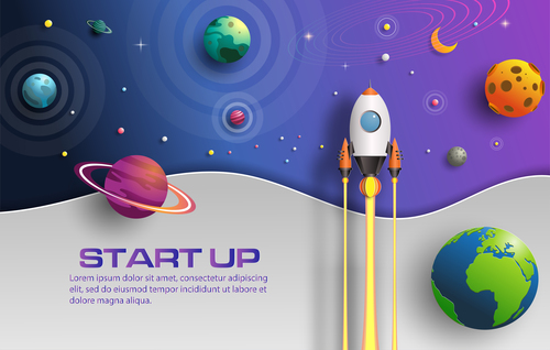 Start up business template vector design 06