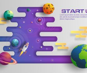 Start up business template vector design 07