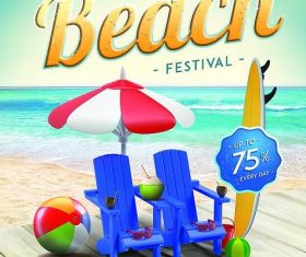 Summer Beach Festival Flyer PSD template