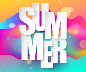 Summer abstract background design vector 01