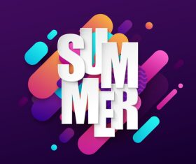 Summer abstract background design vector 02