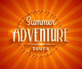 Summer adventure logo design vector
