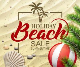 Summer beautiful holiday message design vector