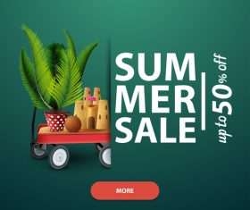 Summer discount sale website template vector 02