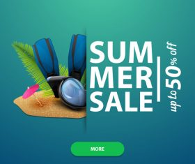 Summer discount sale website template vector 03