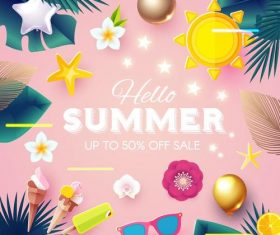 Summer holiday sale template vector background 01