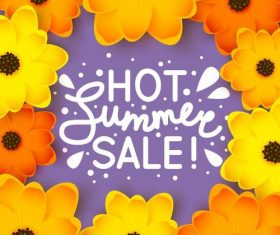 Summer holiday sale template vector background 02