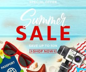 Summer holiday sale template vector background 03