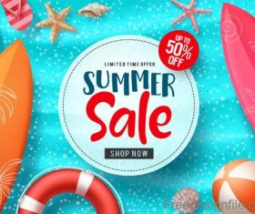 Summer holiday sale template vector background 04