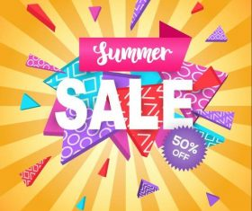 Summer holiday sale template vector background 05