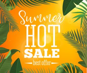 Summer hot sale best offer vector design