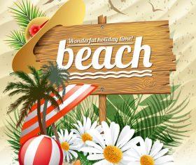 Summer nature beach design vector