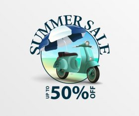 Summer sale discount labels design vector 01