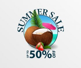 Summer sale discount labels design vector 03