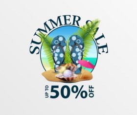Summer sale discount labels design vector 04