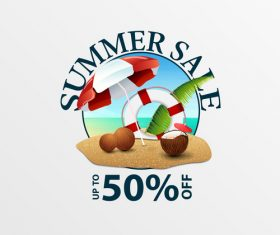 Summer sale discount labels design vector 05