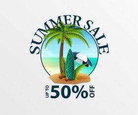 Summer sale discount labels design vector 06