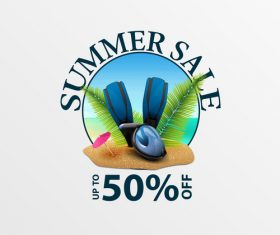 Summer sale discount labels design vector 07