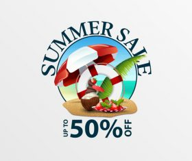 Summer sale discount labels design vector 08