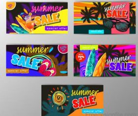 Summer sale special offer card vector