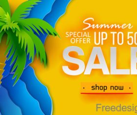 Summer sale special poster template vector