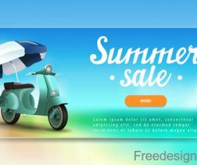 Summer sale website banners design vector 01