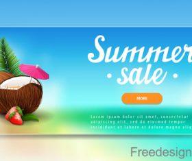 Summer sale website banners design vector 03