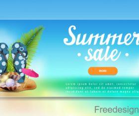 Summer sale website banners design vector 04