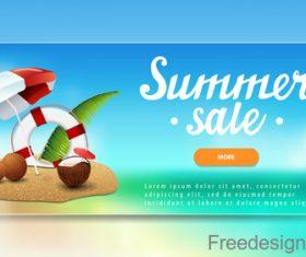 Summer sale website banners design vector 05