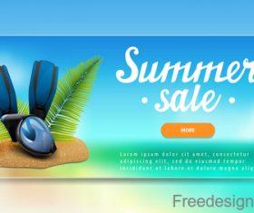 Summer sale website banners design vector 06