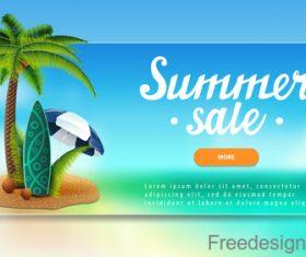 Summer sale website banners design vector 07